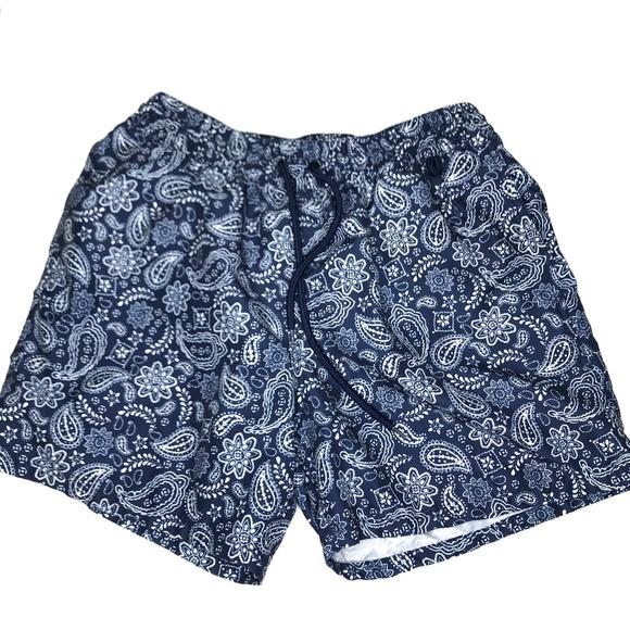 Merona Other - Merona Blue Paisley Swim Board Shorts A170443